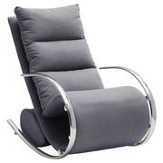 RELAXSESSEL in Metall, Textil, Holzwerkstoff Grau - Chromfarben/Grau, Design, Holzwerkstoff/Textil (67/111/102cm) - Xora