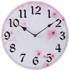 ZIDNI SAT - pink/bijela, Trend, drvni materijal (33cm) - Ambia Home