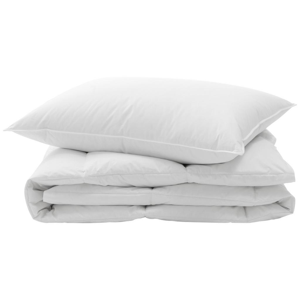 Image of Billerbeck Bettenset 160/210 cm , Komfort-Set, 2 Tlg , weiss , Textil , 160 cm , Satin , feuchtigkeitsregulierend, weich und anschmiegsam, für alle Schlafpositionen geeignet, sehr leicht, hygienisch, luftdurchlässig , 003279002201