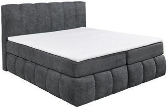 KONTINENTALSÄNG - svart/antracit, Design, textil/plast (180/200cm) - Carryhome