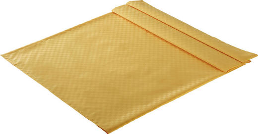 TISCHDECKE Textil Jacquard Gelb 135/170 cm - Gelb, Basics, Textil (135/170cm)