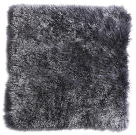 SITZKISSEN - Anthrazit, KONVENTIONELL, Fell/Textil (34/34/cm) - Esposa