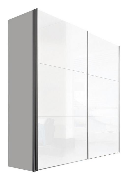 SCHWEBETÜRENSCHRANK 2  -türig Weiß - Alufarben/Weiß, KONVENTIONELL, Holzwerkstoff/Metall (200/216/68cm) - Hom`in