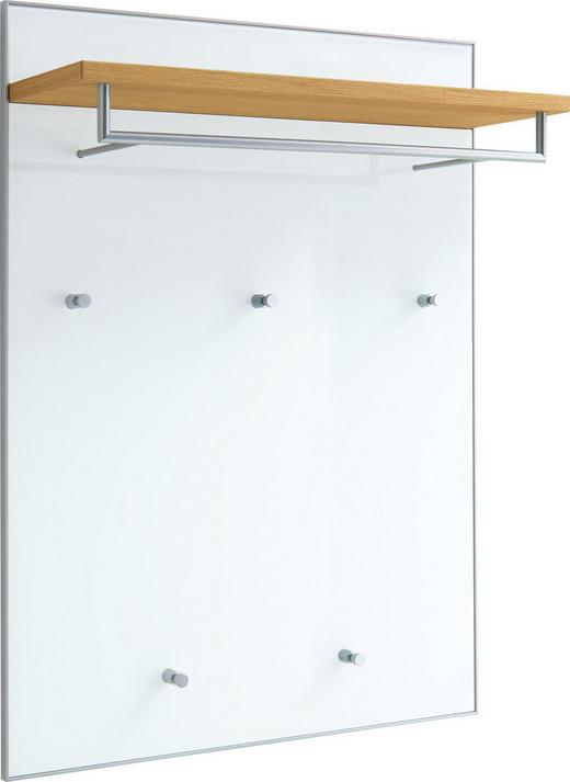 GARDEROBENPANEEL Eiche furniert lackiert Eichefarben, Weiß - Eichefarben/Weiß, Design, Glas/Holz (80/109/27cm)