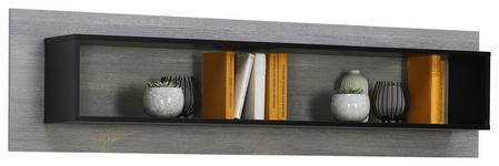 WANDBOARD in 160/40/21,9 cm Grau, Schwarz  - Schwarz/Grau, Design, Holzwerkstoff (160/40/21,9cm) - Carryhome