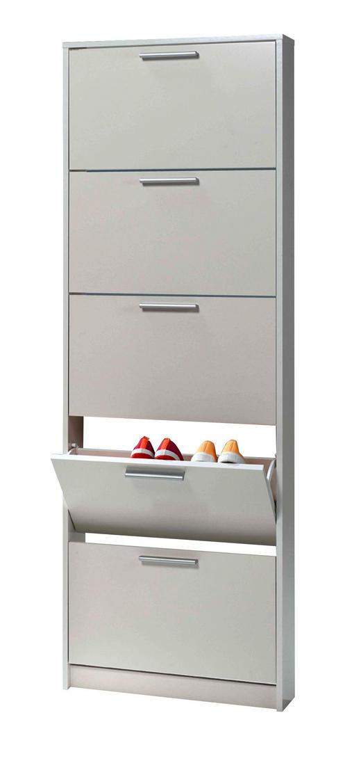 ORMARIĆ ZA OBUĆU - bijela/boje aluminija, Design, drvni materijal/plastika (58,3/175,4/16,7cm) - Xora