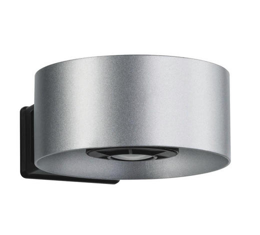 LED-WANDLEUCHTE - Anthrazit/Silberfarben, Basics, Metall (11/5/15cm)