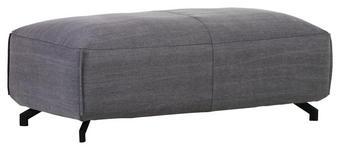 HOCKER in Textil Grau  - Schwarz/Grau, LIFESTYLE, Textil (130/49/70cm) - Carryhome