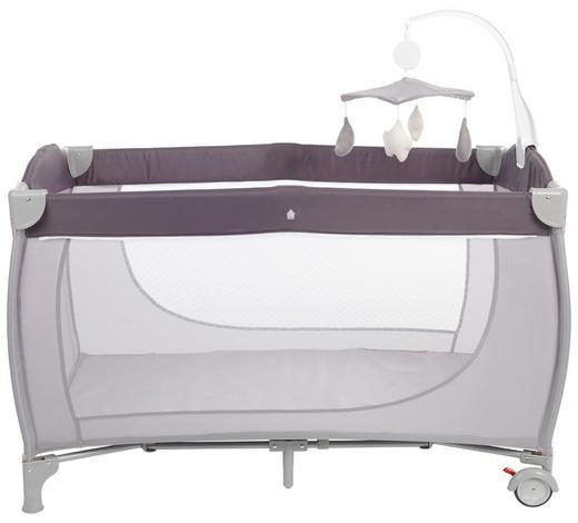 CESTOVNÍ POSTEL - světle šedá/tmavě šedá, Basics, kov/textilie (125/65/78cm) - Jimmylee