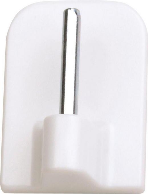 SELBSTKLEBEHAKEN - Weiß, Basics, Kunststoff (1.6/2.3cm) - Homeware