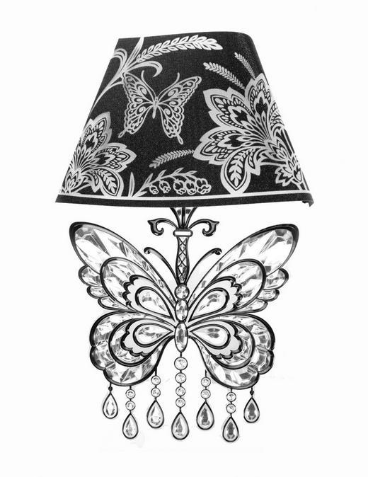 Wandsticker mit Licht - Schwarz, Basics, Kunststoff (22/40/1,5cm)