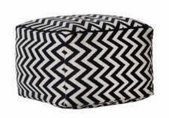 TABURE tekstil bela, črna - črna/bela, Basics, tekstil (72/48/72cm) - Xora