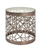 BEISTELLTISCH in Bronzefarben - Bronzefarben, Design, Glas/Metall (50/50cm)