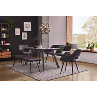STOLICA  antracit, crna  metal, tekstil      - crna/antracit, Design, metal/tekstil (59,5/83/59cm) - Carryhome