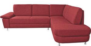 WOHNLANDSCHAFT Rot  - Rot/Alufarben, Design, Textil/Metall (262/212cm) - Venda