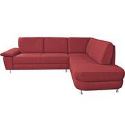 WOHNLANDSCHAFT in Textil Rot - Rot/Alufarben, KONVENTIONELL, Textil/Metall (262/212cm) - Ada Austria