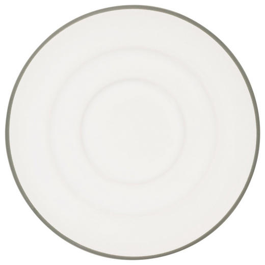 UNTERTASSE - Weiß/Grau, LIFESTYLE, Keramik (11/1,8/11cm) - Gmundner