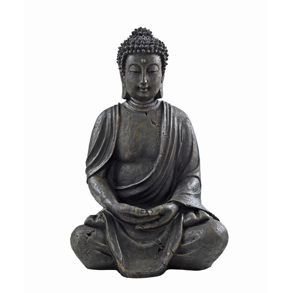 Image of XXXLutz Buddha 26/40 cm , 2006585 (2414351) , Kunststoff , 26x40 cm , sitzend , 0048853152
