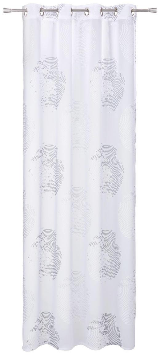 ÖSENSCHAL  halbtransparent  135/245 cm - Silberfarben, Design, Textil (135/245cm) - ESPOSA