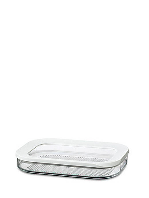 VORRATSDOSE 0,550 L - Transparent/Weiß, Basics, Kunststoff (0.550l) - MEPAL ROSTI