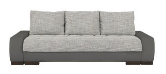SCHLAFSOFA in Textil Grau, Hellgrau  - Wengefarben/Hellgrau, Design, Holz/Textil (243/90/100cm) - Carryhome