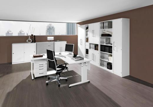 BÜRO Beimöbel erhältlich, erweiterbar, Typenauswahl, umfangreiches Zubehör erhältlich Weiß - Weiß, Design - WELNOVA