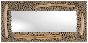 SPIEGEL Teakholz Teakfarben  - Teakfarben, LIFESTYLE, Glas/Holz (185/90/4cm) - Landscape