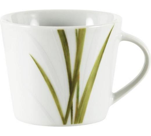KAFFEETASSE 200 ml - Weiß/Grün, KONVENTIONELL (0,2l) - Ritzenhoff Breker
