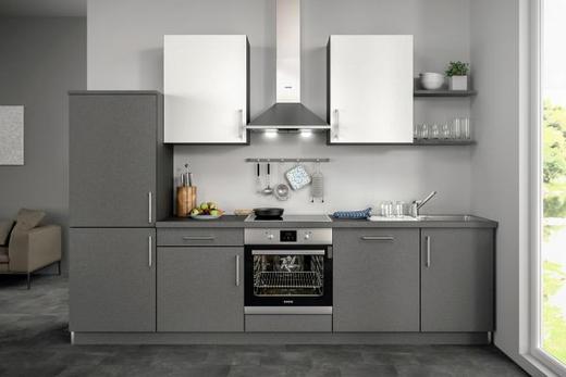 Küchenblock ohne E-Geräte 290,5 cm - Weiß/Grau, Design (290,5cm) - Set one by Musterrin