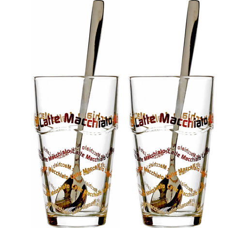 Kaffeegläser-Set 4-teilig 370 ml - Klar, KONVENTIONELL, Glas (17cm) - Ritzenhoff Breker