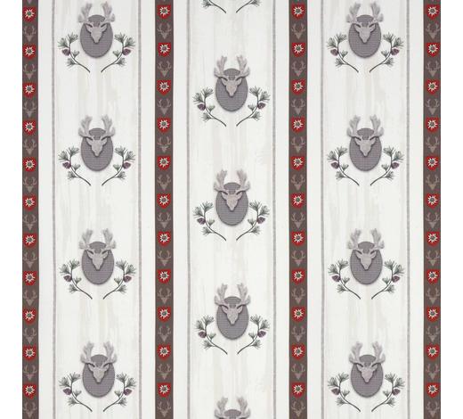 VORHANGSTOFF per lfm  - Rot/Naturfarben, LIFESTYLE, Textil (160cm) - Landscape