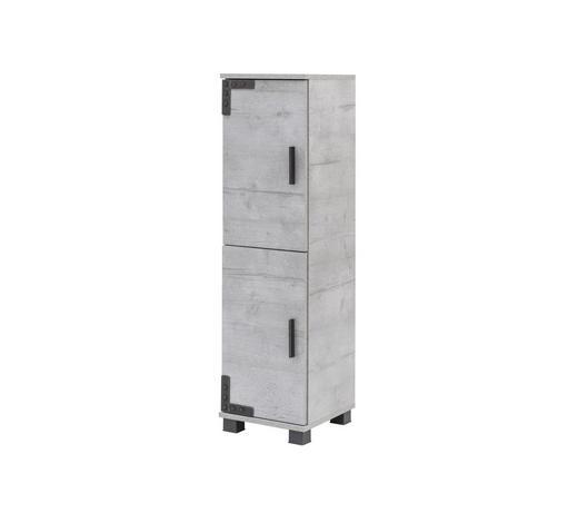 SEITENSCHRANK Grau  - Schwarz/Grau, LIFESTYLE, Holzwerkstoff/Kunststoff (31/117/33cm) - Stylife