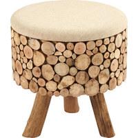 TABURET - hnědá, Lifestyle, dřevo/textil (43/43/46cm) - Ambia Home