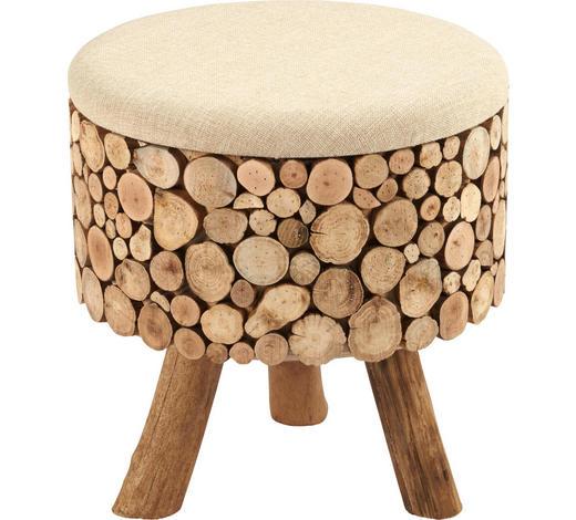 TABURET, recyklované dřevo, hnědá - hnědá, Lifestyle, dřevo/textil (43/43/46cm) - Ambia Home