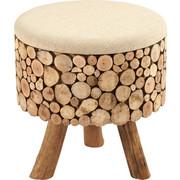 TABURET - hnědá, Lifestyle, dřevo/textilie (43/43/46cm) - Ambia Home