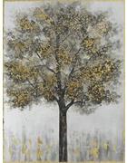 Bäume BILD  - Goldfarben/Schwarz, Holz/Kunststoff (60/80/3,5cm)