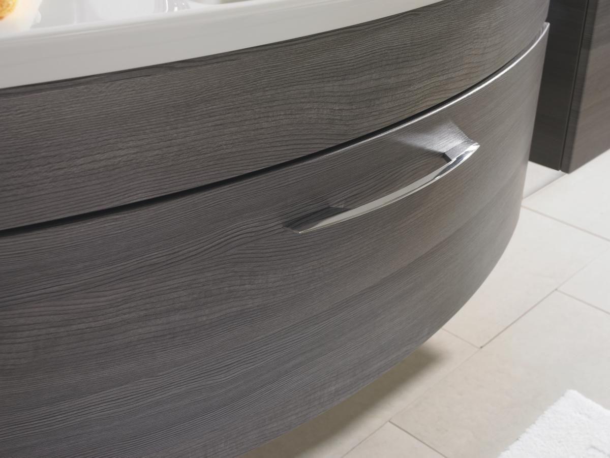 BADEZIMMER - Anthrazit, Design, Kunststoff (121cm) - SADENA