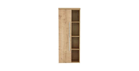 MIDISCHRANK 50/130,8/33 cm - Chromfarben/Eichefarben, Design, Holzwerkstoff (50/130,8/33cm) - Dieter Knoll