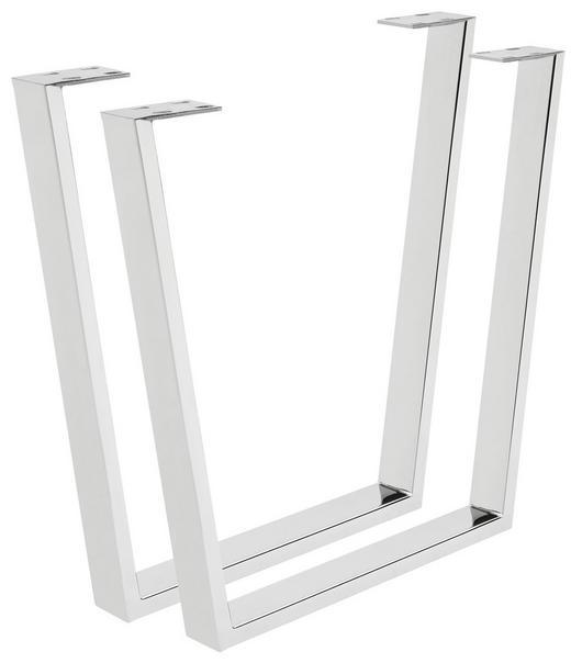 TISCHGESTELL Silberfarben - Silberfarben, Design, Metall (78/72/7,5cm) - Valdera