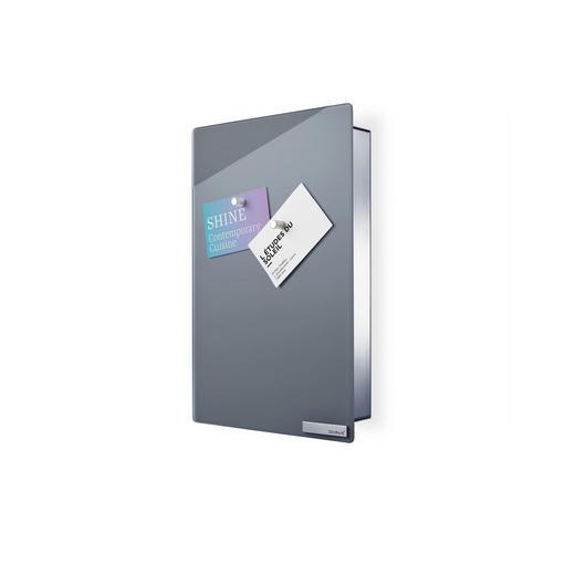 SCHLÜSSELKASTEN Grau - Grau, Design, Glas/Metall (20/30/5cm) - Blomus