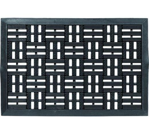 DVEŘNÍ ROHOŽKA, černá - černá, Design, textil (45/75cm) - Schöner Wohnen
