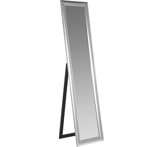 STANDSPIEGEL Silberfarben - Silberfarben, Design, Glas/Holzwerkstoff (40/170/40cm) - Kare-Design