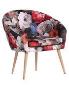 FOTELJA - višebojno/prirodne boje, Design, tekstil/drvo (73/73/43/66cm) - Carryhome