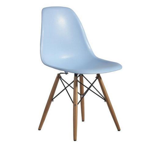 STOLICA  plava  drvo, metal, plastika      - plava, Design, drvo/metal (54/81/47cm) - Novel