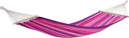 STABHÄNGEMATTE Mischgewebe Lila, Pink, Rosa - Pink/Lila, KONVENTIONELL, Holz/Textil (100/310cm)