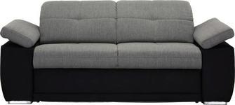 SCHLAFSOFA in Textil Grau, Schwarz - Chromfarben/Schwarz, KONVENTIONELL, Textil (206/82/101cm) - Venda