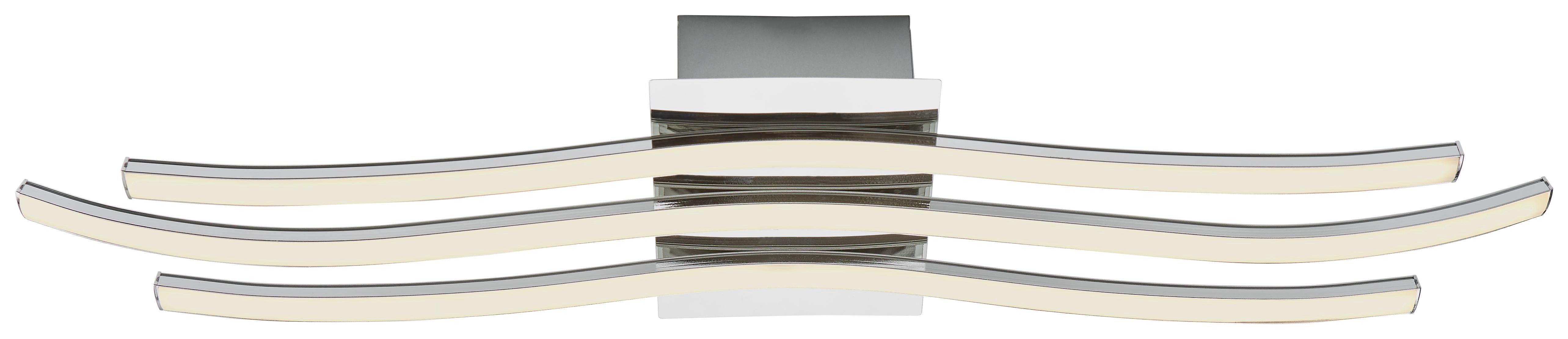 LED-TAKLAMPA - kromfärg, Design, metall/plast (60/15,5/6,5cm) - Novel