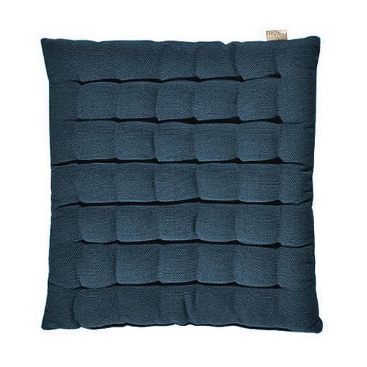 Sitzkissen Dunkelblau 40/40/3 cm - Dunkelblau, Basics, Textil (40/40/3cm) - LINUM