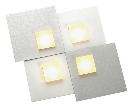 LED-DECKENLEUCHTE - Alufarben/Weiß, Design, Metall (25/25/3,5cm)