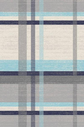 VÄVD MATTA - beige/blå, Klassisk, ytterligare naturmaterial/textil (120/170cm) - Novel